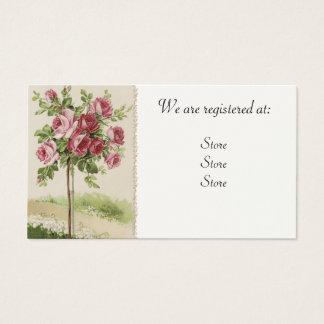 Vintage Rose Wedding Registery Cards