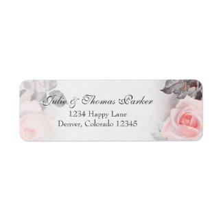Vintage Rose Wedding Return Address Label label