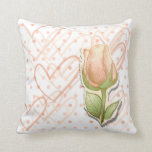 Vintage rosebud, pillow