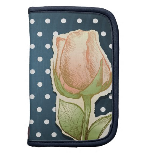 Vintage rosebud, planner