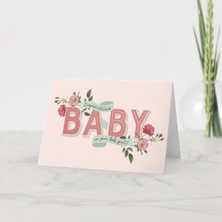Greeting cards zazzle vintage rosebuds new baby card m4hsunfo