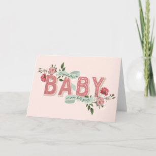 New baby cards zazzle vintage rosebuds new baby card m4hsunfo