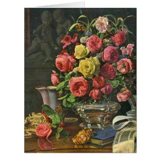 Vintage Roses 1840 Card