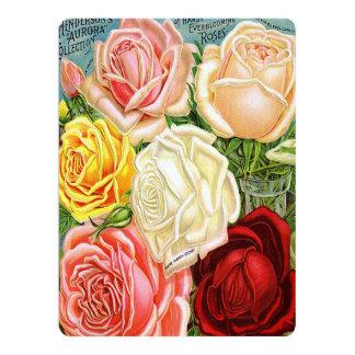 Vintage Roses 6.5x8.75 Paper Invitation Card