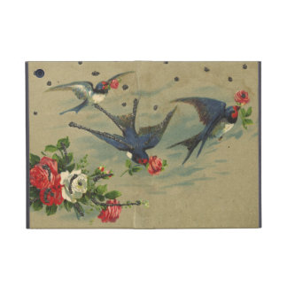 Vintage Roses and Blue Birds Cover For iPad Mini
