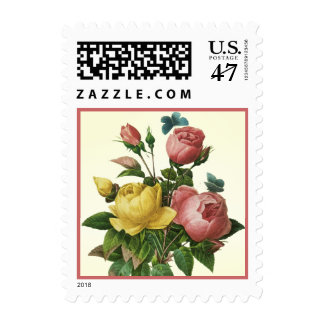Vintage Roses and Butterflies Postage