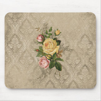 Vintage Roses and Damask Mouse Pad
