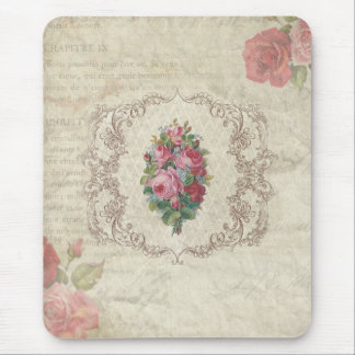Vintage Roses and Engraving Mousepad