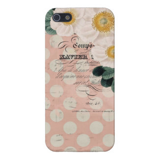 Vintage Roses and French Calligraphy iPhone Case