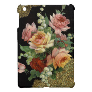 Vintage Roses and Gold Lace Cover For The iPad Mini