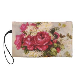 Vintage Roses and Lilacs Wristlet Purse