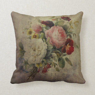 Vintage roses and other flowers on your pillows
