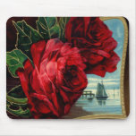 Vintage Roses and Sail Boat Mousepads