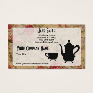 Vintage Roses and Tea Business Card