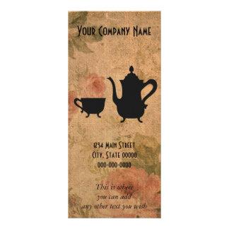 Vintage Roses and Tea Rack Card