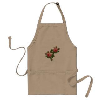 vintage roses apron