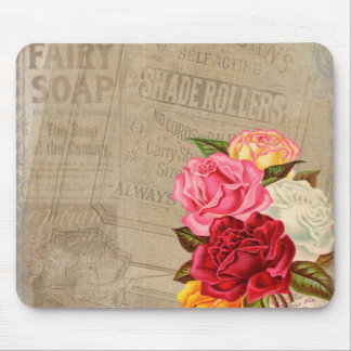 Vintage Roses Background Mouse Pad