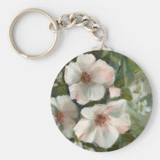 Vintage Roses Basic Round Button Keychain