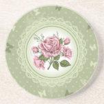 Vintage Roses Beverage Coasters