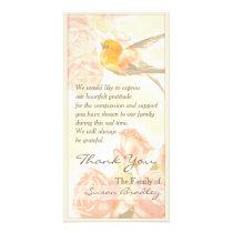 Vintage Roses Bird Sympathy Thank You P Card