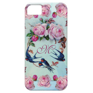 Vintage Roses, birds and Monogram iPhone 5 Covers