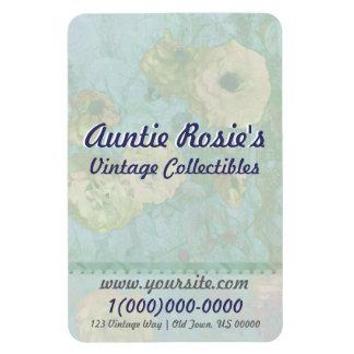Vintage Roses Biz Card Premium Flexi Magnet