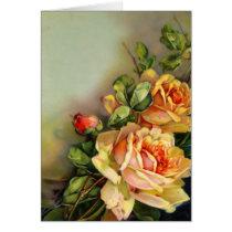 Vintage Roses Blank Card