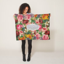 Vintage Roses Blanket Personalized - EDIT TEXT