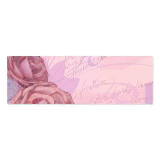 Vintage roses, bookmark card business card
