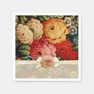 Vintage Roses Bouquet Napkins