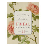 Vintage Roses Bridal Shower Sign