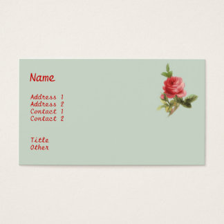 Vintage Roses Business Card