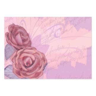 Vintage roses, business card
