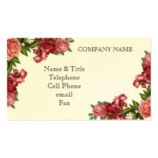 Vintage Roses Business Card Business Card