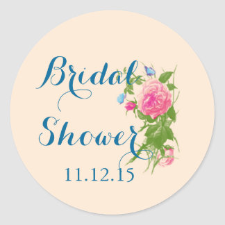 Vintage Roses | Butterfly Bridal Shower Sticker