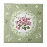 Vintage Roses Ceramic Tiles