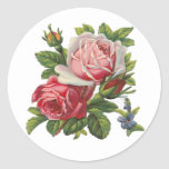 VINTAGE ROSES CLASSIC ROUND STICKER