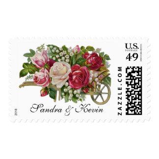 Vintage Roses Custom Wedding Postage