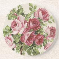 Vintage Roses Drink Coaster