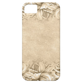 Vintage Roses Ecru Beige Earth Tones Neutral iPhone SE/5/5s Case