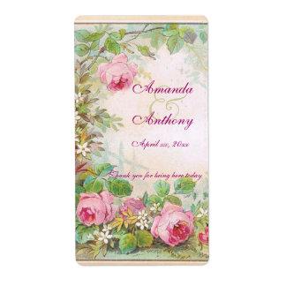 Vintage Roses English Garden Wine/Water Label