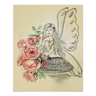 'Vintage Roses Fairy' poster