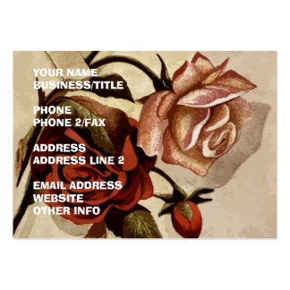 Vintage Roses Floral Art Business Card Template