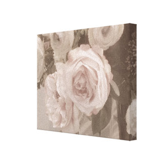 VINTAGE ROSES FLORAL ART CANVAS BEAUTIFUL!