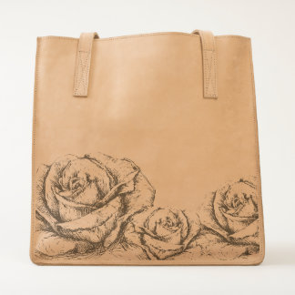 Vintage Roses Floral Grey Decorative Tote