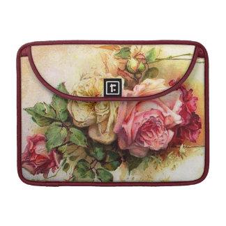 Vintage Roses Floral Macbook Pro Flap Sleeve MacBook Pro Sleeve