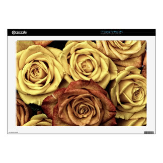 "Vintage Roses For Your Rose Decals For 17"" Laptops"