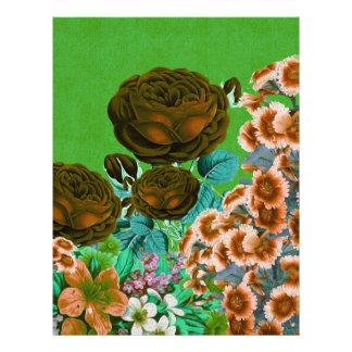 Vintage Roses Garden Letterhead