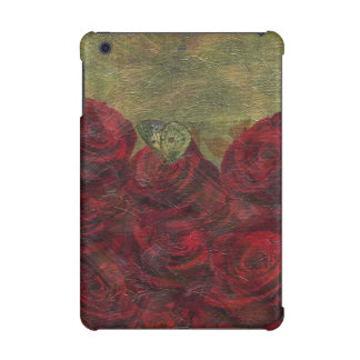 Vintage Roses Green Oil Painting iPad Mini Retina Covers