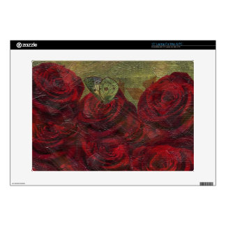 Vintage Roses Green Oil Painting Laptop Decals